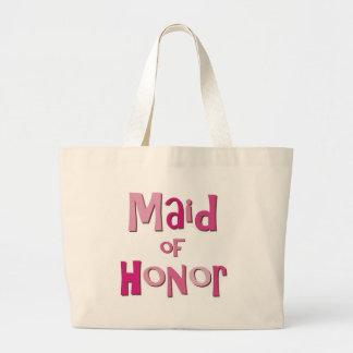 Maid of Honor Pink Brown Jumbo Tote Bag