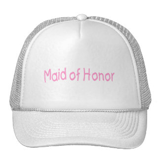 Maid Of Honor Pink Trucker Hats
