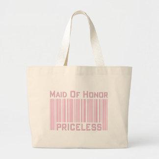 Maid of Honor Priceless Jumbo Tote Bag