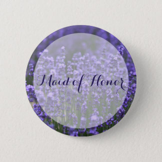 Maid Of Honor Purple Lavender Wedding Buttons