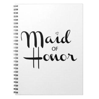 Maid of Honor Retro Script Note Book