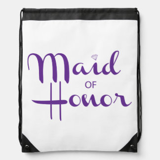 Maid of Honor Retro Script Rucksack
