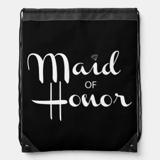 Maid of Honor Retro Script Rucksacks