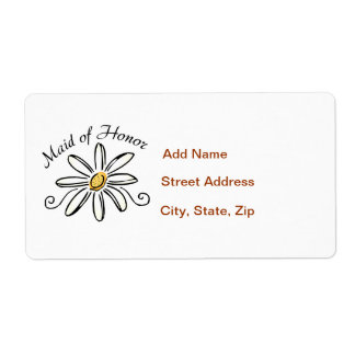Maid of Honor Shipping Label
