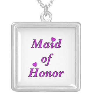 Maid of Honor Simply Love Custom Necklace