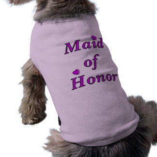 Maid of Honor Simply Love Sleeveless Dog Shirt