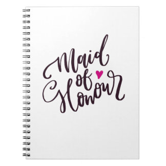 Maid of Honor Spiral Notebooks