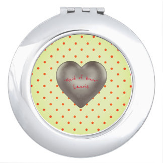 """ MAID OF HONOR "" Spring-Vivid_Heart_Y_Template_ Compact Mirror"