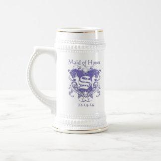 Maid of Honor Stein Wedding Vintage Lions Mug