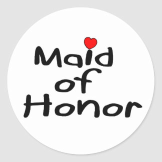 Maid of Honor Stickers