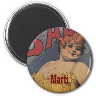 Maid of Honor Vintage Bridal Shower 6 Cm Round Magnet