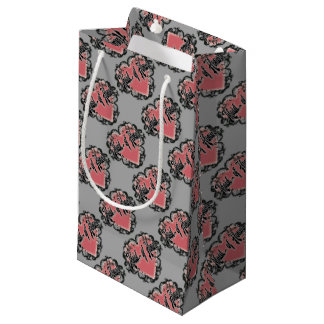 maid of honor vintage heart tattoo small gift bag