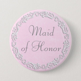 Maid of Honor Wedding Bridal Shower Party Button