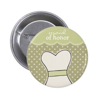 Maid of honor -- Wedding dress GREEN Buttons