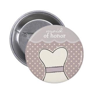 Maid of honor -- Wedding dress // PURPLE 6 Cm Round Badge