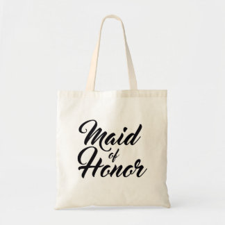 Maid of honor wedding favour tote bag
