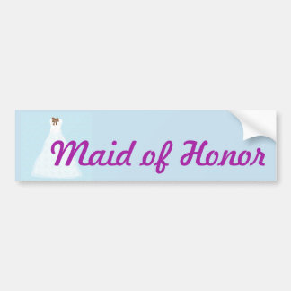 Maid of Honor wedding sticker