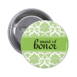 Maid of Honour Damask Button