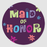 Maid of Honour Gifts and Favours Round Sticker