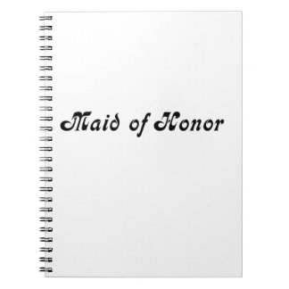 Maid of Honour Notebooks