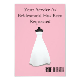 Maid of Honour or Bridesmaid Invite
