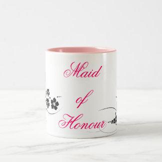 Maid of Honour pink and black Two-Tone Coffee Mug