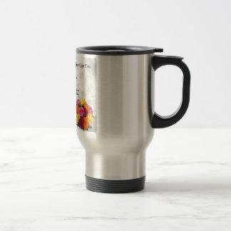 Maid of Honour Poem - Flowers design Travel Mug