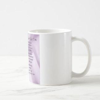 Maid of Honour Poem - Lilac Silk design Coffee Mug