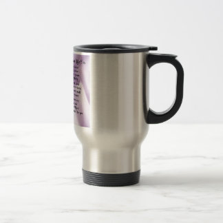 Maid of Honour Poem - Lilac Silk design Stainless Steel Travel Mug