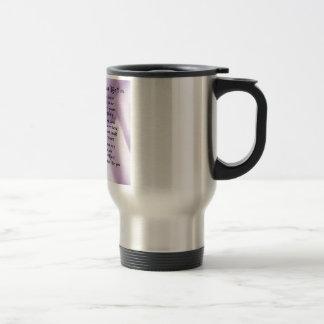 Maid of Honour Poem - Lilac Silk design Travel Mug