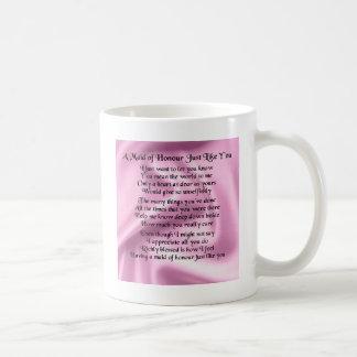 Maid of honour poem - Pink silk Coffee Mug