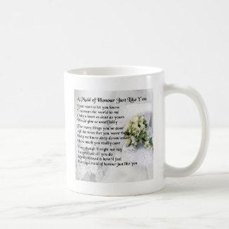 maid of honour poem - Wedding Bouquet design Coffee Mug