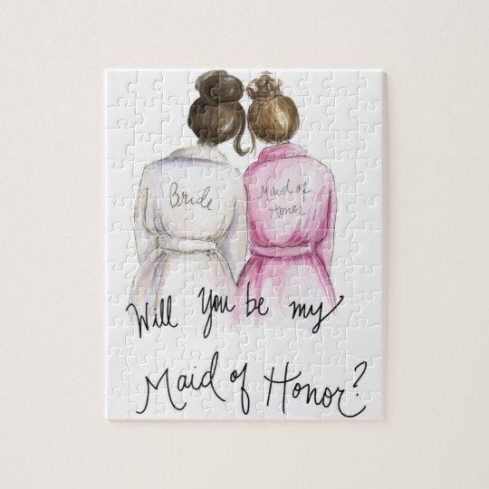 Maid of Honour? Puzzle Dark Br Bun Bride Br Bun Bm