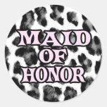 Maid of Honour Round Sticker