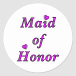 Maid of Honour Simply Love Round Sticker
