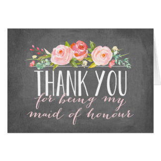 Maid of Honour Thank You | Bridesmaid Card