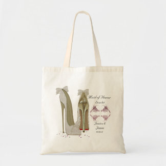 Maid of Honour Wedding Shoes Tote Gift Bag