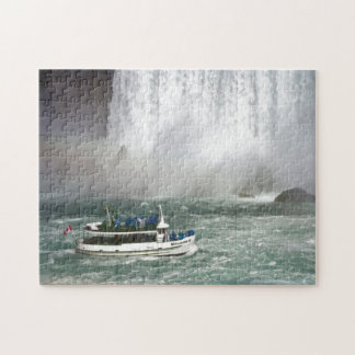 Maid Of The Mist Entering The Falls Jigsaw Puzzle