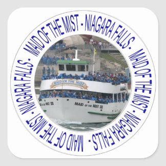 Maid of the mist - Niagara Falls Square Sticker