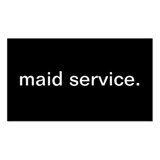 Maid Service Business Cards