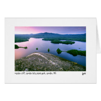 Maiden cliff photo card