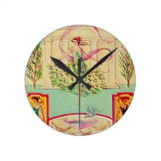 Maiden Goddess Athena Round Clock