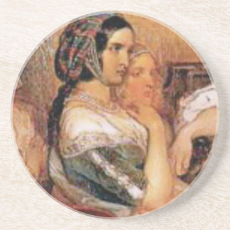 maiden in bonnet coaster