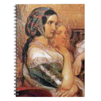 maiden in bonnet notebooks