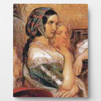 maiden in bonnet plaque