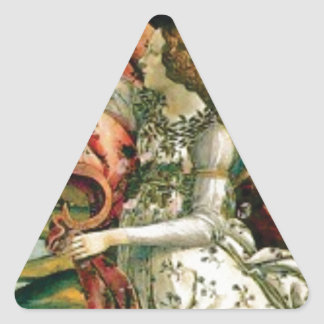 maiden in dress laundry triangle sticker