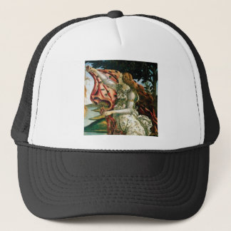 maiden in dress laundry trucker hat