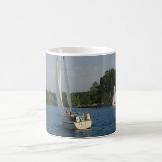 Maiden on Detroit River Coffee Mug