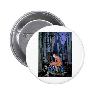 Maiden Turtle French Fairy Tale Art Painting Pins