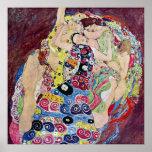 Maiden (Virgin), Gustav Klimt, Vintage Art Nouveau